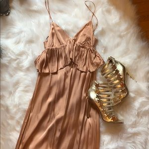 H&M satin midi dress